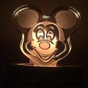 Mickey Mouse Etched Glass Figurine